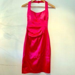 Size 2 Cache hot pink satin dress